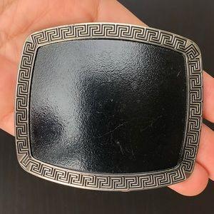 Other - Plain belt buckle removable cowboy black silver